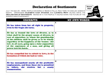 Declaration of Sentiments