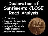 Declaration of Sentiments CLOSE read analysis