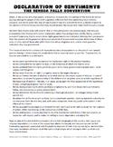 Declaration of Sentiments Reading Analysis