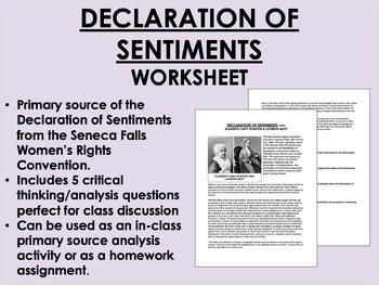 Declaration of Sentiments - Women's Rights - USH/APUSH