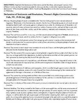 Declaration of Sentiments and 3rd Wave Manifesta Activity