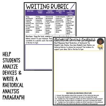 Declaration of Sentiments by Stanton Common Core ELA Test Prep Bundle