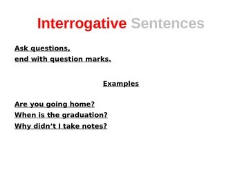 Declarative exclamatory interrogative and imperative sentences declarative exclamatory interrogative and imperative sentences powerpoint ccuart Gallery