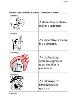 ESL: Declarative, Imperative, Exclamatory, Interrogative