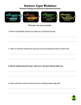 Declarative, Interrogative, Imperative and Exclamatory Sentences