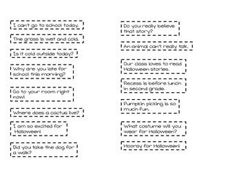 Declarative/ Interrogative Sentence Sort  (Pumpkin Themed)