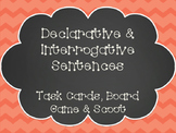 Declarative & Interrogative Sentences Task Cards, SCOOT, and Board Game