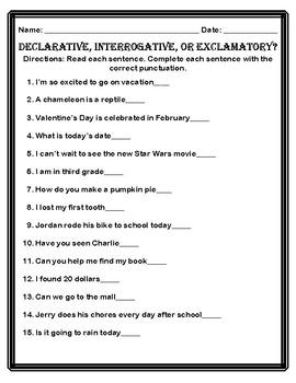 Declarative, Interrogative, and Exclamatory Bundle