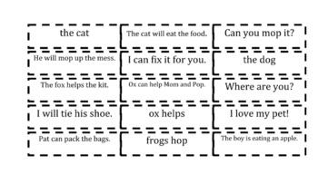 Declarative Sentences Cut and Sort