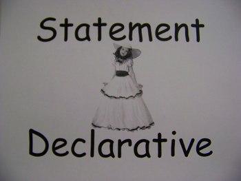 Declarative Sentences Grade 1