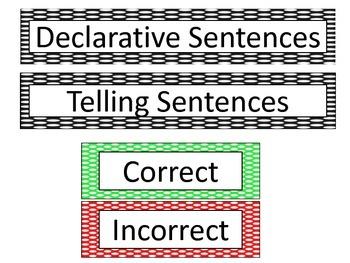 Declarative-Telling Sentence Sort