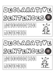 Declarative and Interrogative Sentence Interactive Notebook