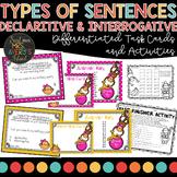 Types of Sentences   Declarative and Interrogative Sentence Task Cards