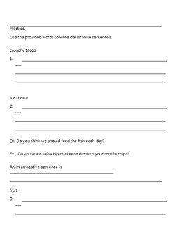 Declarative and Interrogative Sentences