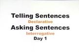 Declarative and Interrogative Sentences Powerpoint for 1st Grade