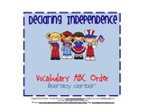 Declaring Independence ABC Order Activity