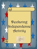 Declaring Indepenence Activity