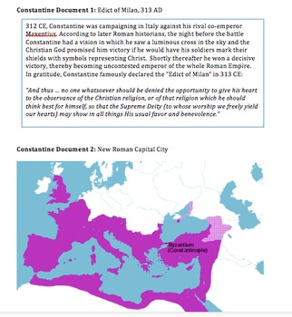 Decline of Rome: Diocletian and Constantine Attempt to Save the Empire