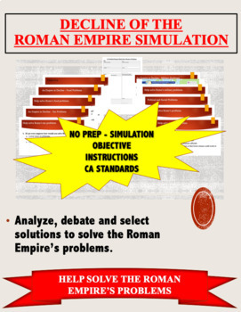 Decline of Rome - Help Solve the Roman Empire's Problems PPT