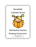 Decodable 2 Syllable Words Distributive Practice