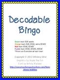 Decodable Bingo