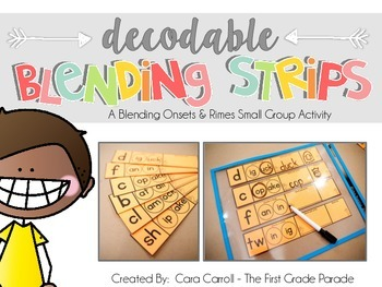 Decodable Blending Strips (Small Group Phonics Activity)