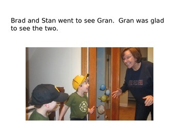 Decodable Book: Brad and Stan See Gran