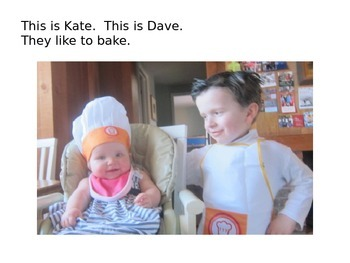 Decodable Book: Kate and Dave Bake a Cake