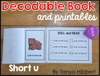 graphic regarding Free Printable Decodable Books for Kindergarten titled Decodable E book: small u