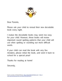 Decodable Books (Letter to Parents)