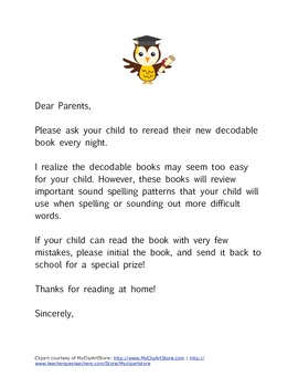 Decodable Books (Letter to Parents)