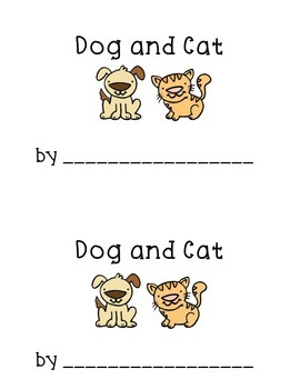 Decodable CVC Book Cat and Dog