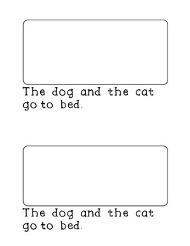 Decodable CVC Book Cat and Dog