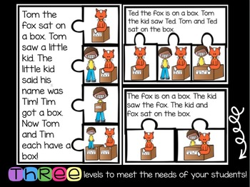 Decodable CVC Fluency and Sequencing Passages: Set Two {color and B&W}
