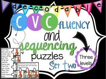 Decodable CVC Fluency and Sequencing Passages: Set Two {co