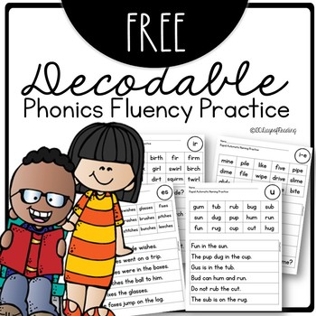 Decodable Controlled Text for Phonics Skills for Fluency Practice
