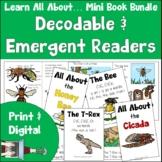 Decodable & Emergent Readers | Mini Book Bundle