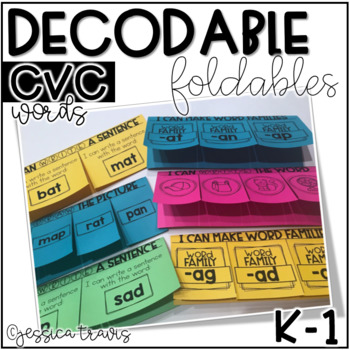 Decodable Foldables (CVC Words) K-1