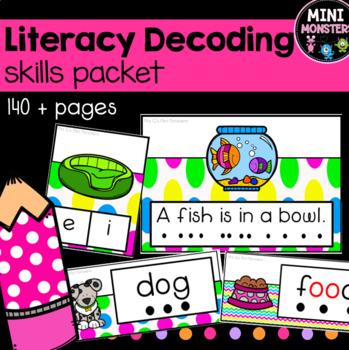 Decodable Literacy Center Bundle