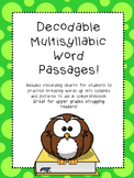 Decodable Multisyllabic Word Passages! Growing Resource!