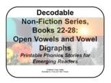 Decodable Non-Fiction Set 5, Open Vowels and Vowel Digraph