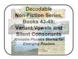 Decodable Non-Fiction Set 8, Variant Vowels and Silent Con