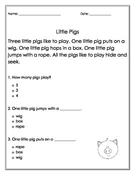 Decodable Passages for Independent Reading Comprhension