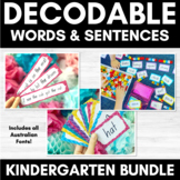 Decodable Words and Sentence Cards SET 1 | Single Sounds &