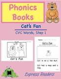 Phonics Book, CVC words, Cat's Fan, AND Reading Comprehension
