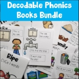 Decodable Phonics Books Bundle | One Page Mini Fold Books