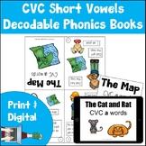 Decodable Phonics Books | CVC Short Vowels