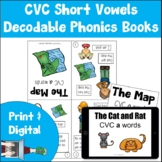 Decodable Phonics Books | CVC Short Vowels | Print and Dig