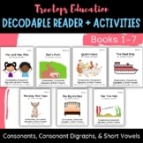 Decodable Pocket Readers #1-7, Consonants, Short Vowels an