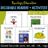 Decodable Pocket Readers #16-20- Glued Sounds (am,an,all,-nk,-ng)